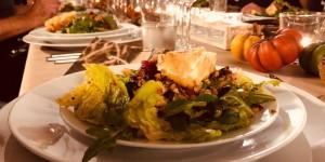 Blattsalate mit gebackenem Schafskäse 3