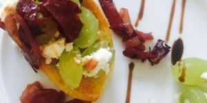 In Rotwein geschmorte Chorizo mit Weintrauben und Fetakäse 2