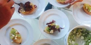In Rotwein geschmorte Chorizo mit Weintrauben undn Fetakäse 1